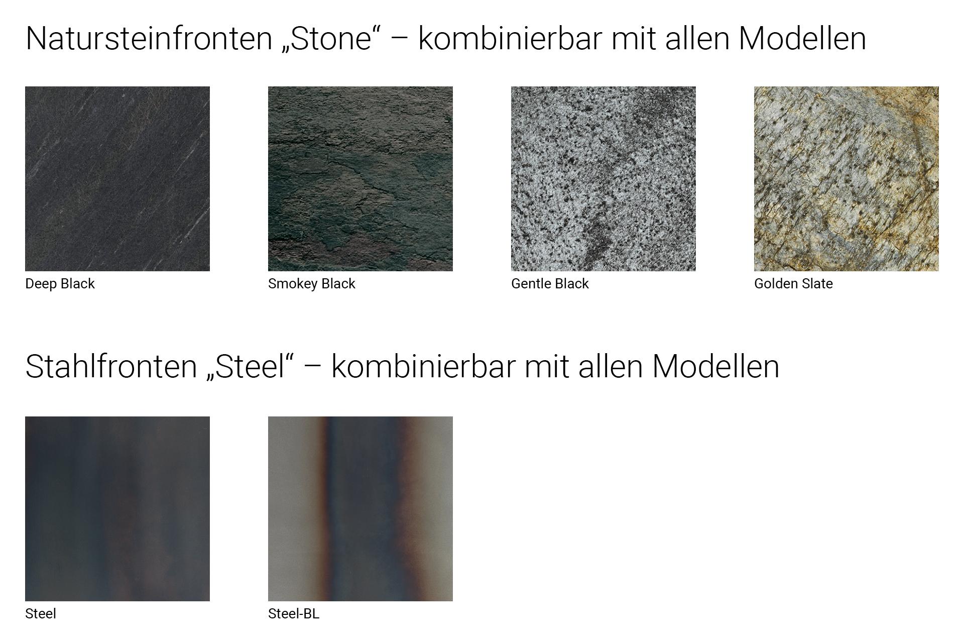 Finish 3 Natursteinfronten Stahlfronten – OSTER KÜCHE